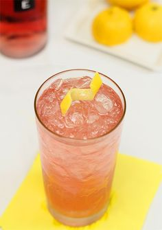 The Lone Ranger – Tequila,Sparkling Rosé and Lemon. Great summer cocktail!