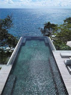 Pool with a view at Villa Amanzi, Phuket.