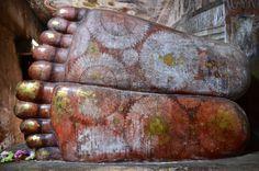Foot prints of the Buddha, Dambula Rock Temple, Sri Lanka