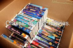 classic disney movies, I have them all.