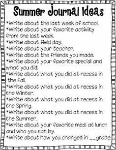 Freebielicious: Summer Writing Journal Freebie