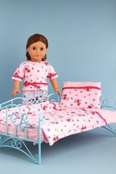 Perfect Bedding - Pink cozy bedding includes comforter, blanket and pillow - 18 Inch Doll Bedding  Price : $21.97 http://www.dreamworldcollections.com/Perfect-Bedding-bedding-comforter-blanket/dp/B005PIO9AE