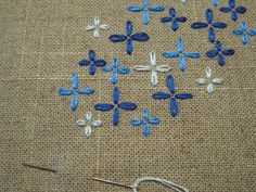 simple pattern on the natural fabric