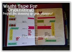 Washi Tape Possibilities from http://www.handstampedstyle.com there are a million uses for Washi Tape.