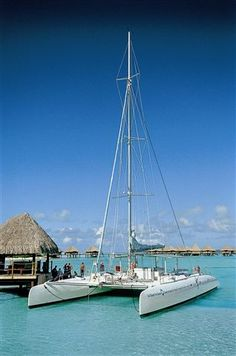 Bora Bora Island ~ Would love to be on that catermeran