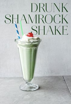 How To Make A Boozy DIY Shamrock Shake. This could easily be veganized...just use vegan milk and ice cream :)