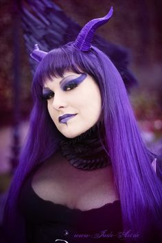 Violet Demon - Potrait by ~NataliaLeFay on deviantART