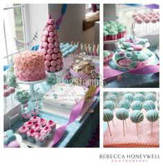 ISABELLA'S CHRISTENING – THE TURQUOISE AND PINK DESSERT TABLE