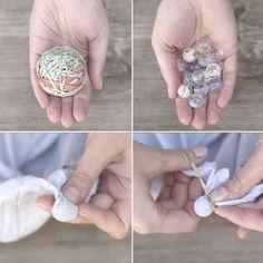 Tie Dye using marbles