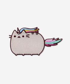 Pusheenicorn iron on patch -- I NEED THIS ON MY BACKPACK!!!!!