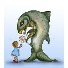 Yes Virginia There is a Frankenfish print by FullFrogMoon