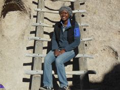 Natascha hanging out at Bandelier National Monument.