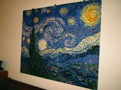 LEGO Mosaic of Van Gogh's Starry Night