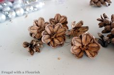 pine cone flowers!