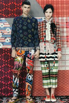 Pattern on Pattern  Fashion...who would wear this?  Love the colors, but impractical. LJH