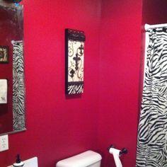 My zebra bathroom
