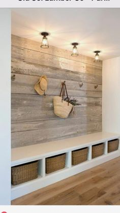 bench/wall in laundry room.. but smaller. #FurnitureDirect