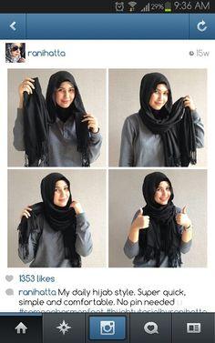 Ranihatta Daily quick hijab tutorial