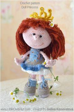Project by Galina Konovalova Doll Princess Amigurumi toy created using LittleOwlsHut crochet pattern www.ravelry.com/... #Amigurumi, #Pertseva, #LittleOwlsHut, #Princess, #Doll, #toy, #CrochetPattern