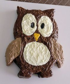 Owl cake: 50 Amazing and Easy Kids Cakes - mom.me cake tutorial, birthday parties, kid birthdays, owl cakes, owls, cake recipes, dessert, baby showers, birthday cakes