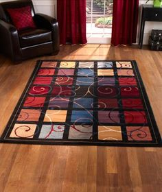 AmazonSmile - Modern Scroll Area Rug, Accent Rug and Runner 3 Pc Set -