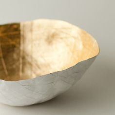 lovely paper and gold bowl