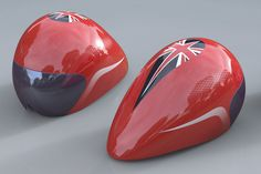 Team GB's new cycling helmet for the London 2012 Olympics