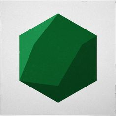 #286 Icosahedron (shaded) – A new minimal geometric composition each day