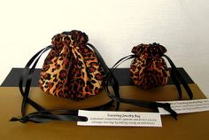 """Yes, we can still get you jewelry bags by Christmas!  This set $14.25 @IslandJewelryBags.etsy.com """"Big Cat"""" #Jewelry Bags"""
