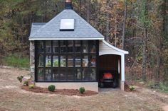 Jeff's all-in-one tiny house/greenhouse/storage shed. Lots of cool ideas incorporated into his build. Details are here