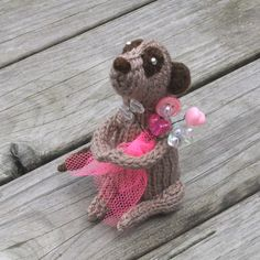 Fantastic hand knitted Valentine's Day present.