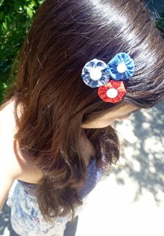 Vintage Yo Yo Hair Clip Bobby Pins for the Fourth of July