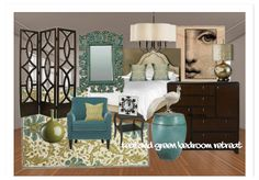teal and green bedroom retreat . . . lovely combination of colors
