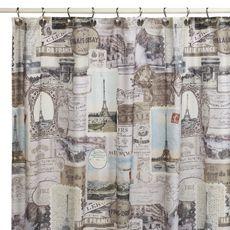 "Traveler 72"" x 72"" Fabric Shower Curtain"