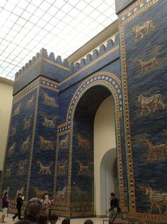 The Ishtar Gate, one of the gates of Babylon at the Pergamon Museum in Berlin