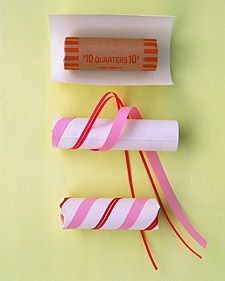 Wrap a roll of quarters as a gift to someone that is always needing change! Great stocking stuffer for the kids :)