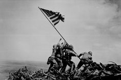 Sixty-eight years ago, five United States Marines and a U.S. Navy corpsman raised the flag of the United States atop Mount Suribachi during the Battle of Iwo Jima in World War II. flags, flag worldwar2histori, iwo jima, america flag, war ii