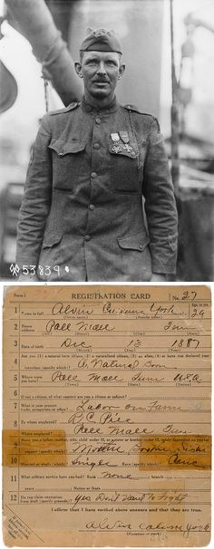 Alvin York, a backwoods Tennessean who became the most highly decorated soldier of World War I. #genealogy #veterans