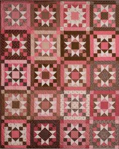 Chocolate Covered Cherries, pink and brown quilt