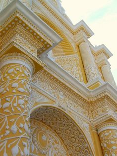 islamic architecture, church, color, antigua guatemala, buildings, wedding cakes, yellow, place, central america