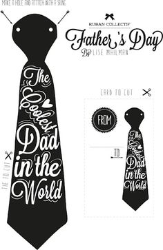 Father's day diy card & tie. Wish I could give one to my Dad now.  Made one of these in grade 1 in a way ....