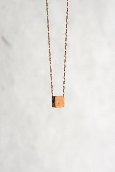 Love the simplicity!   Brass Square Necklace. $30.00, via Etsy.