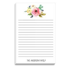 Rose Bunch Notepad