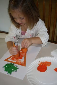 The Carrot Seed- Use a carrot to stamp orange paint onto a carrot shape.