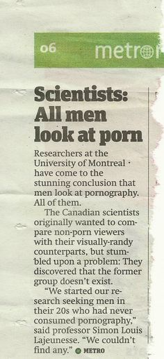 They needed research to figure that out?