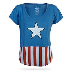 Captain America Relaxed-Fit Ladies' Tee