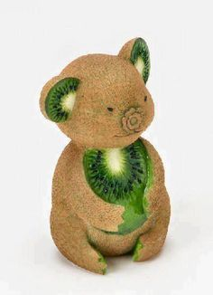 koala made of kiwi