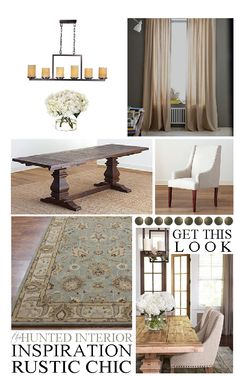 Get This Look: Rustic Chic Dining Room