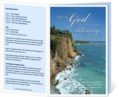 Church Bulletin Templates : Praise Church Bulletin Template with inscription: Praise God from whom all blessings flow
