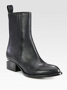 Alexander Wang - Chelsea Leather Ankle Boots $525